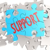 Puzzle jigsaw support Stock Photography