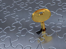 The puzzle key Royalty Free Stock Photos
