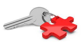 The puzzle key Stock Photo