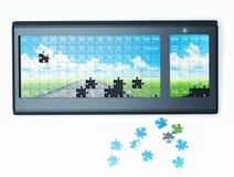 Puzzle  keyboard Royalty Free Stock Image