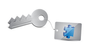 Puzzle keys illustration design Royalty Free Stock Photo
