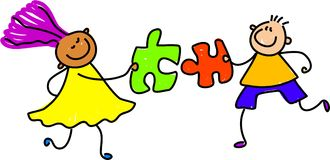 Puzzle kids royalty free stock photography