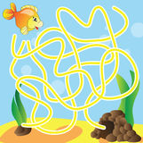 Puzzle for kids - marine life Stock Photography
