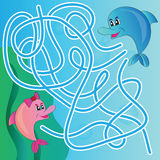 Puzzle for kids - marine life Royalty Free Stock Photography