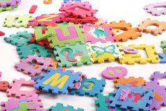 Puzzle. Kids toy Royalty Free Stock Photos