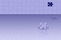 puzzle konceptualna scena Fotografia Stock
