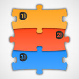 Puzzle label (steps) for your text, vector Stock Images