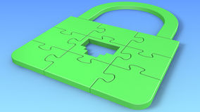 Puzzle LAN Lock Royalty Free Stock Images