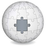 Puzzle land with gray the middle Royalty Free Stock Photo