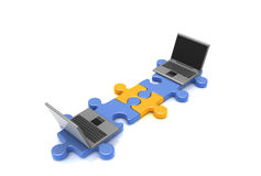 Puzzle_laptop Photo stock