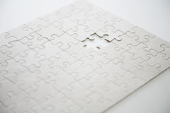 Puzzle with last piece missing Stock Photography