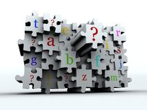 Puzzle latters Royalty Free Stock Photography