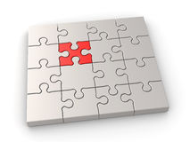 Puzzle leadership concept Royalty Free Stock Photo
