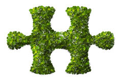Puzzle Leaf texture. Royalty Free Stock Image