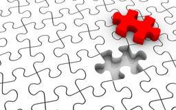 Puzzle-Letzt-Stück Lizenzfreie Stockfotografie
