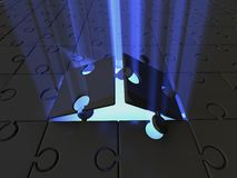 Puzzle. light Royalty Free Stock Photo