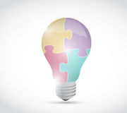 Puzzle light bulb illustration design Royalty Free Stock Photo