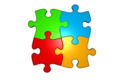 Puzzle logo Royalty Free Stock Images