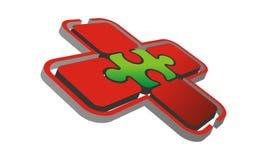 Puzzle Logo Design Template de santé Images libres de droits