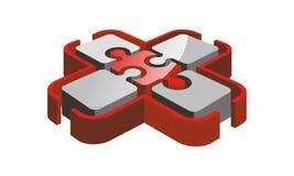 Puzzle Logo Design Template de santé Photo stock