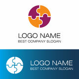 Puzzle logo. This is puzzle logo icon vector stock illustration