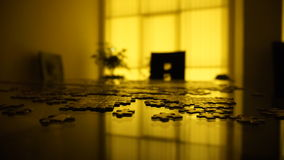 Puzzle. Long exposure night shot of a puzzle Stock Photos