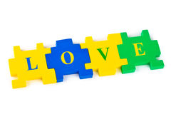 Puzzle Love Royalty Free Stock Photography