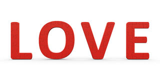 Puzzle Love. Love is represented in the puzzle's form, 3d rendering, Valentine's Day Stock Images