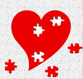 Puzzle of love. Love is a puzzle with some missing pieces Stock Photos