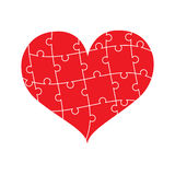 Puzzle love. Puzzle Heart For design work Stock Image