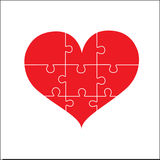 Puzzle love. Puzzle heart, love and unity efforts. For design work Or for Valentine`s Day Stock Image