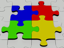 Puzzle lucido del colourfull Immagine Stock