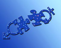 Puzzle mâle et femelle Photographie stock libre de droits
