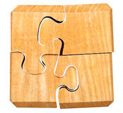 Puzzle mécanique tridimensionnel assemblé Image libre de droits