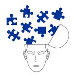 Puzzle man. Representing the concerns of human Royalty Free Stock Photo