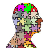 Puzzle man Stock Images