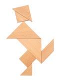 Puzzle man. Shape on white Stock Images
