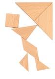 Puzzle man. Shape on white Stock Photo
