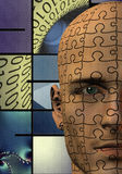Puzzle Man Binary Royalty Free Stock Image
