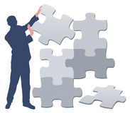 Puzzle man / illustration Royalty Free Stock Images
