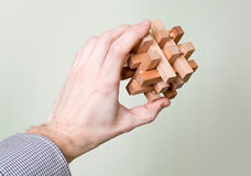 Puzzle in a man's hand Royalty Free Stock Photo