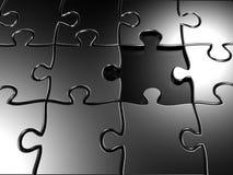 Puzzle manquant 3d de partie rendu Images stock