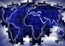 Puzzle map Royalty Free Stock Image