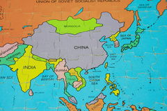 Puzzle Map (Asia). Nation World Map Of Puzzle royalty free stock photo