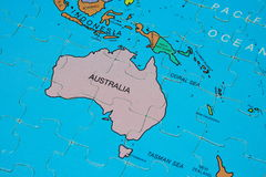 Puzzle Map (Australia) Stock Photography