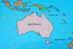 Puzzle Map (Australia). Nation World Map Of Puzzle stock image