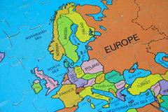 Puzzle Map (Europe) Stock Images