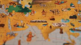 Puzzle Map stock footage