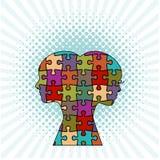 Puzzle masculin et femelle Images libres de droits
