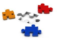 Puzzle match Stock Photos